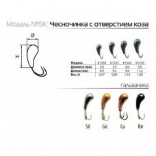 Мормышки вольфрамовые SPIDER чесночинка с отверстием коза