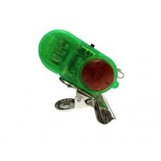 Сигнализатор поклевки электронный с клипсой зеленый