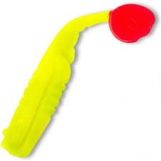 Плавающий виброхвост MANNS Samba лимонный с красным хвостом