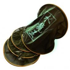Садок рыболовный круглый с золотыми кольцами