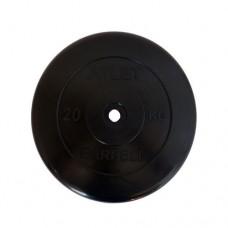 Блин для штанги обрезиненный MB Atlet d-26 20кг