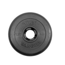 Блин для штанги обрезиненный MB Atlet d-31 1,25 кг