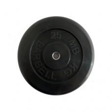 Блин для штанги обрезиненный MB Atlet d-26 25кг