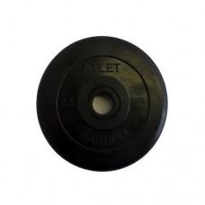 Блин для штанги обрезиненный MB Atlet d-26  2,5кг