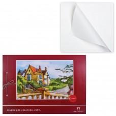 Альбом для акварели А3 Palazzo Кипр 20 листов, 200 г/м2, с калькой, твердая подложка АА-3К