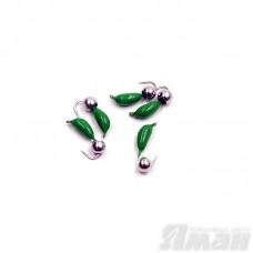 Мормышка безнасадочная Яман Банан зеленый, d-4,5 мм, 1,3 г, шарик никелированный (5 шт.) Я-МР1843