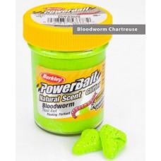 Паста форелевая Berkley 50 г Bloodworm - Chartreuse (мотыльный/неон.зел.)