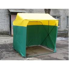Палатка торговая 2,0х2,0 P(кабриолет) (Зеленый/Желтый)