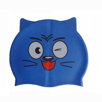 Шапочка для плавания детская с ушками Dobest CA-T10