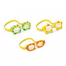 Очки для плавания детские 3-8 лет Intex 55603 дизайн в ассортименте