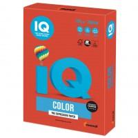 Бумага цветная для принтера IQ Color А4, 120 г/м2, 250 листов, кораллово-красная, CO44